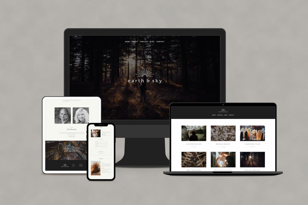 Earth & Sky Website Design