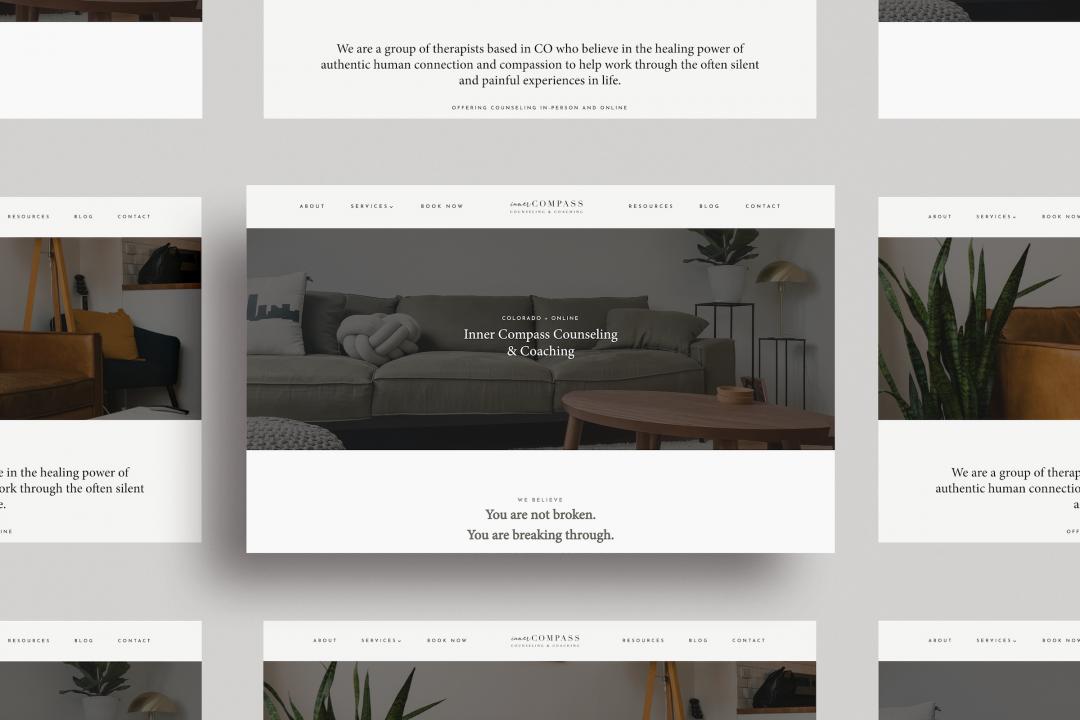 Inner Compass Counseling Denver CO Website Design