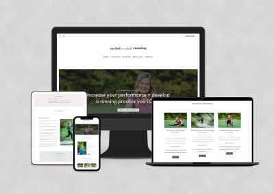 Rachel Michelle Running Website Design